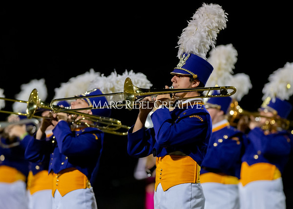 Broughton varsity football vs Cardinal Gibbons. Band and Dance Team Senior Night. October 25, 2019. D4S_1745