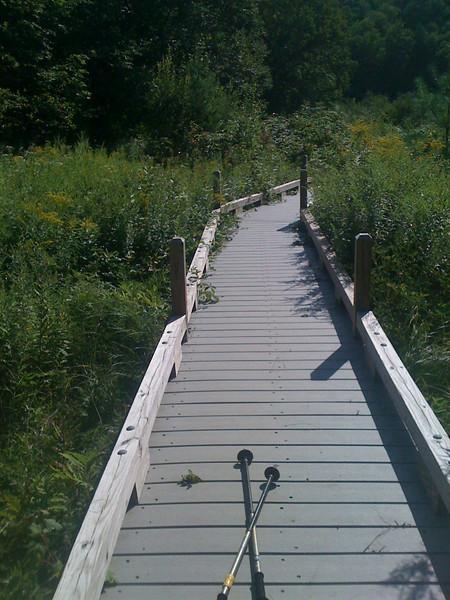 Boardwalk over Ottauqueechee River