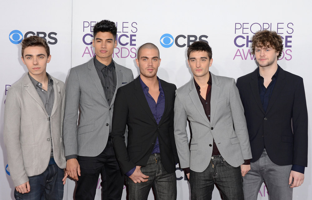 Description of . (L-R) Singers Nathan Sykes, Siva Kaneswaran, Max George, Tom Parker and Jay McGuiness of The Wanted attend the 39th Annual People's Choice Awards at Nokia Theatre L.A. Live on January 9, 2013 in Los Angeles, California.  (Photo by Jason Merritt/Getty Images)