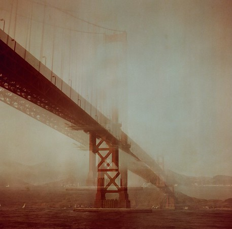 Golden Gate bridge shot with a Rolleiflex