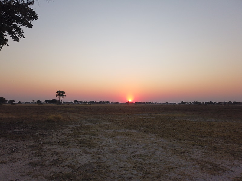 Sunset, Shinde camp, Botswana