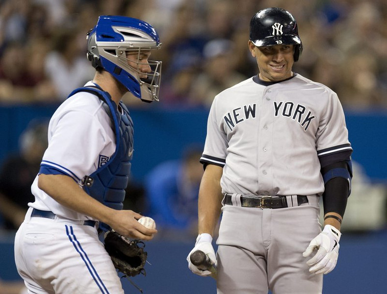 """. <p>10. (tie) NEW YORK YANKEES <p>Just about out of juice. (unranked) <p><b><a href=\'http://www.nydailynews.com/sports/baseball/yankees/buckle-wild-ride-yanks-playoff-hopes-rest-12-games-article-1.1458119\' target=\""""_blank\""""> HUH?</a></b> <p>   (AP Photo/The Canadian Press, Frank Gunn)"""