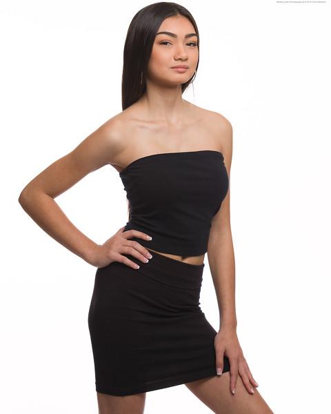 Black Skirt Tube Top