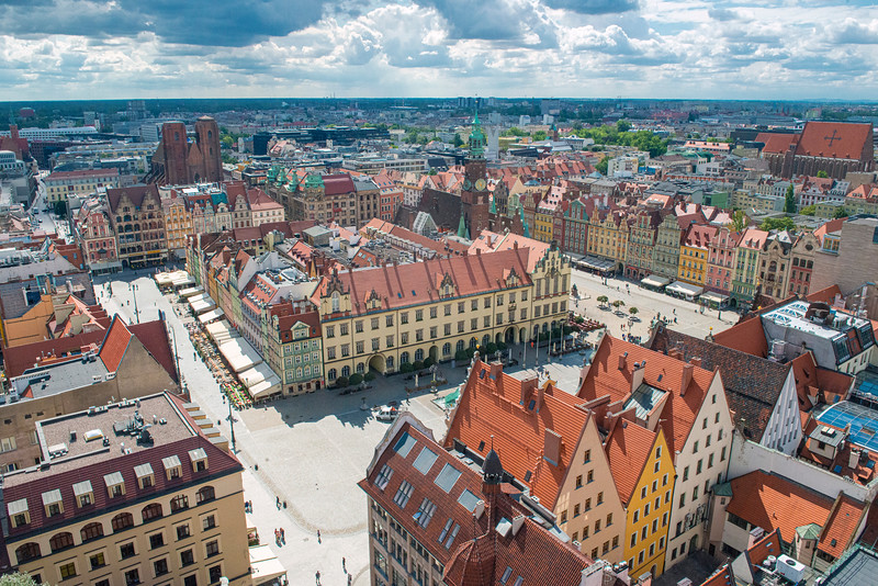 Wrocław, Poland, Old Town Square.