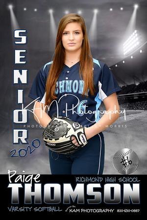 2020 Richmond High School Softball