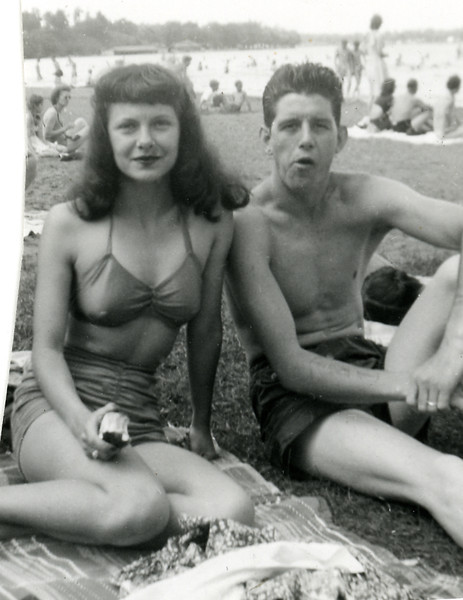 Circa:1947, Art & Dodie on their honeymoon in Minneapolis