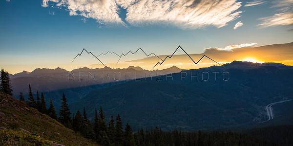 Gore Range, CO at Sunrise