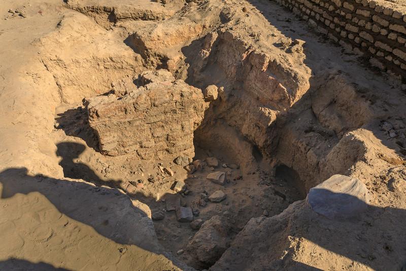 Ruine einer Bäckerei neben der Deffufa, Kerma