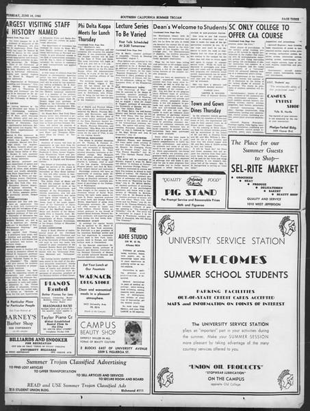 Summer Trojan, Vol. 19, No. 1, June 18, 1940