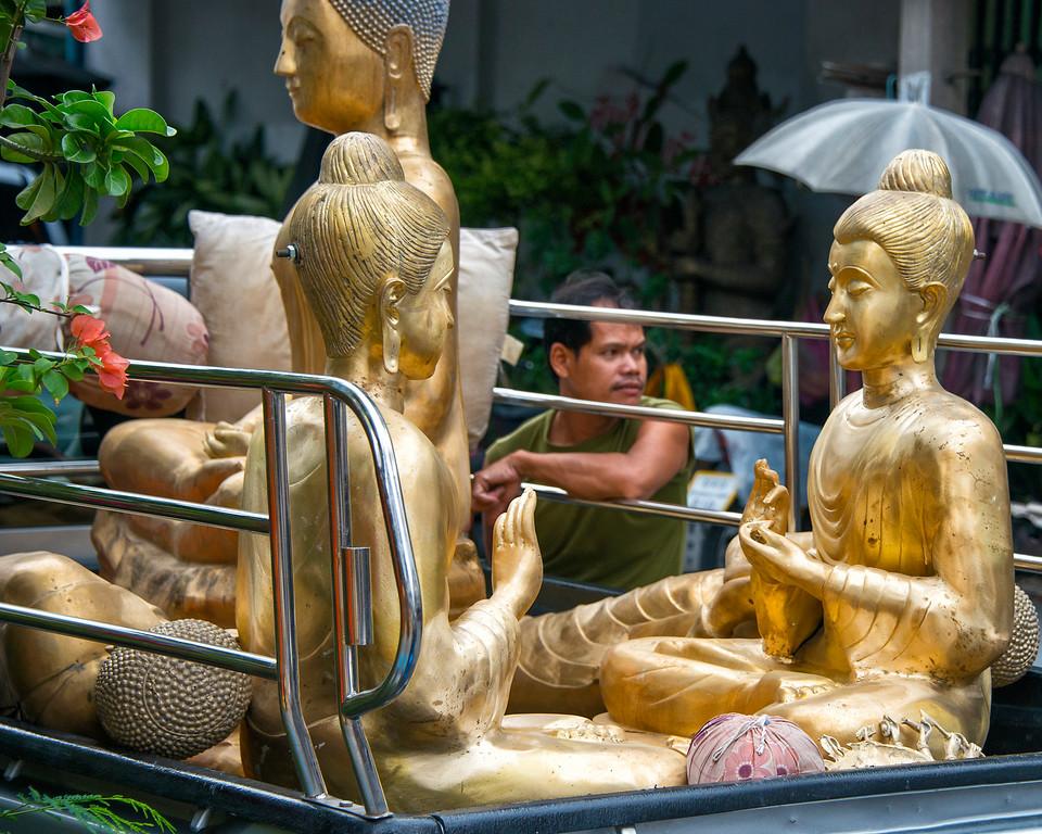 Bangkok Statue Salesman