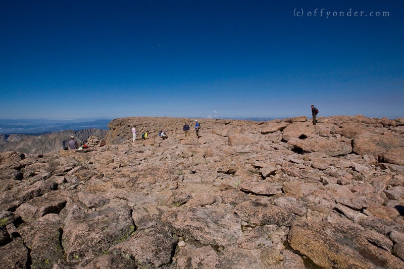 LONGS PEAK, CO - The unique flat summit.