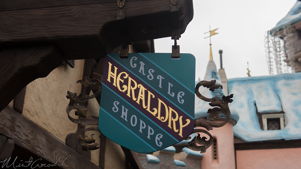 Disneyland Resort, Disneyland, Fantasyland, Castle Heraldry Shoppe, Castle, Heraldry, Shoppe, Close, Closing, January, 12, 2017