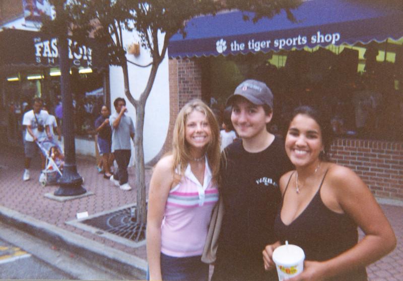 Jenn, Dan, and Louise downtown