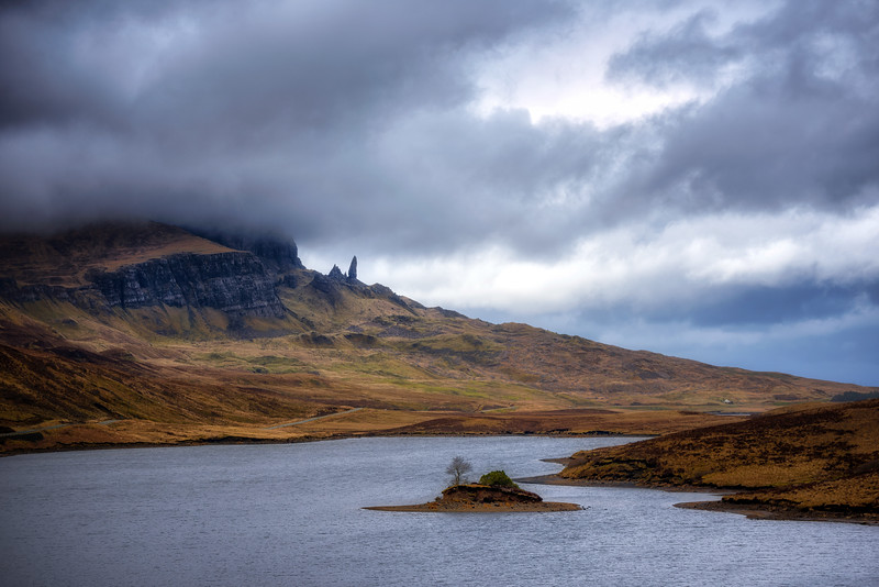 The Storr across Loch Fada