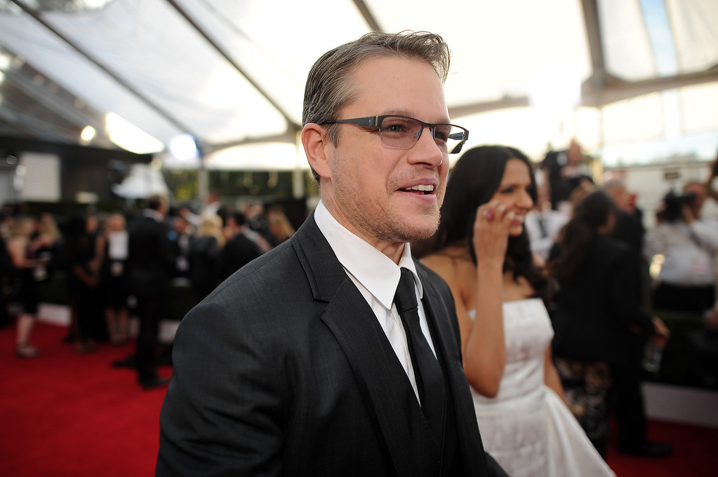 . Actor Matt Damon on the red carpet at the 20th Annual Screen Actors Guild Awards  at the Shrine Auditorium in Los Angeles, California on Saturday January 18, 2014 (Photo by Hans Gutknecht / Los Angeles Daily News)