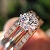 1.31tcw Round Brilliant Diamond Wedding Set, Est to be H, SI2      6