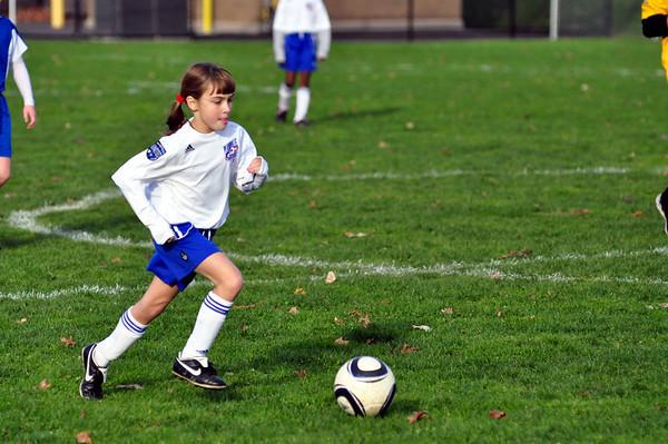 Plainville U11 girls soccer 10-30-10