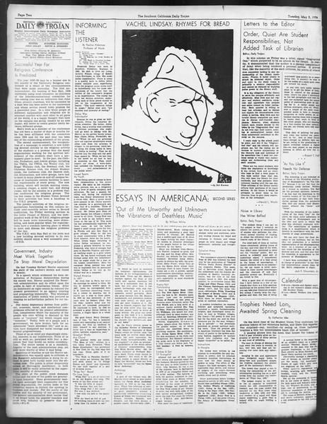Daily Trojan, Vol. 29, No. 128, May 03, 1938