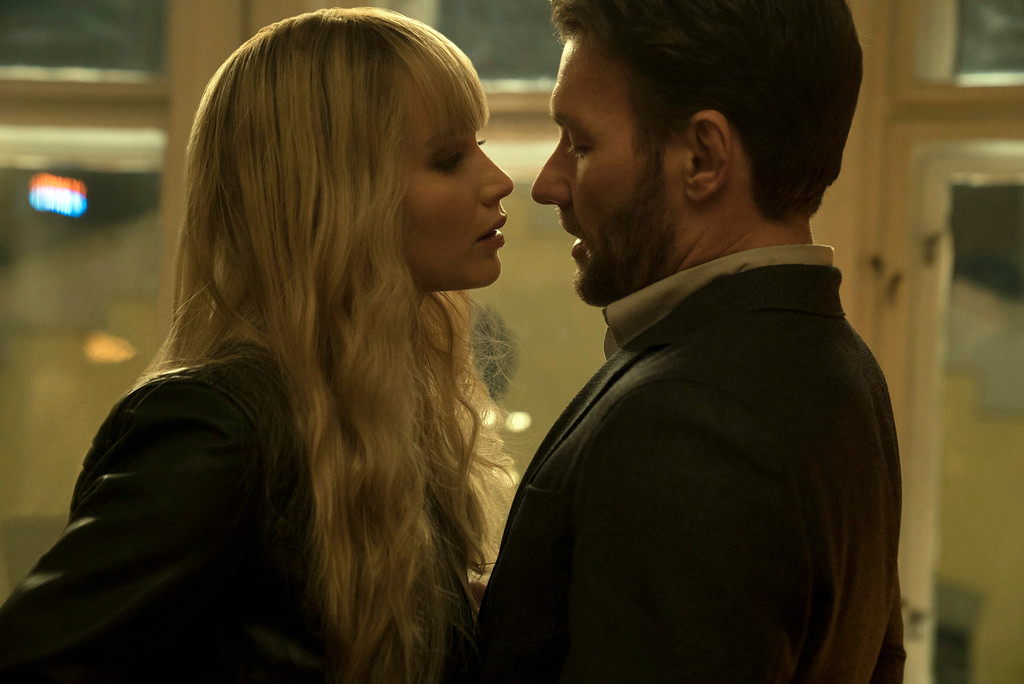 . Jennifer Lawrence and Joel Edgerton play spies on different sides in �Red Sparrow.� The movie is in theaters March 2. (20th Century Fox)