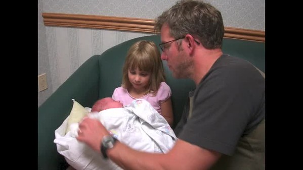 Baby Alexandra Grace Downing, August 21, 2005 -- A series of 3 videos  xoxoxox