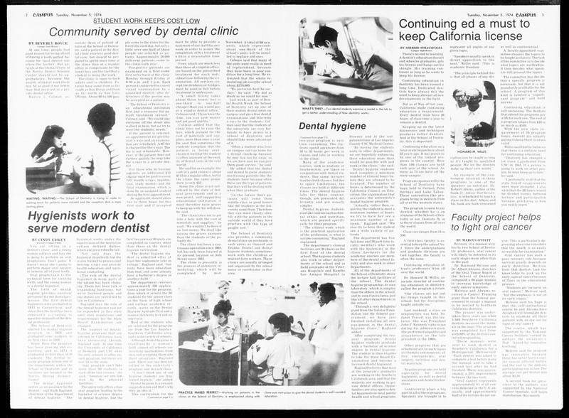 Daily Trojan, Vol. 67, No. 36, November 05, 1974