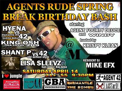 2007-04-14 [Agent Rude's Spring Break Birthday Bash, Club M, Fresno, CA]