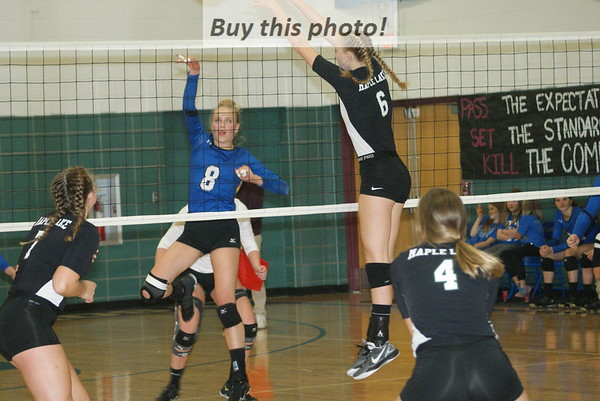 BBE volleyball v. Maple Lake 09-29