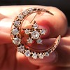 1.40ctw Victorian Rose Gold Crescent and Star Ray Brooch/Pendant 21