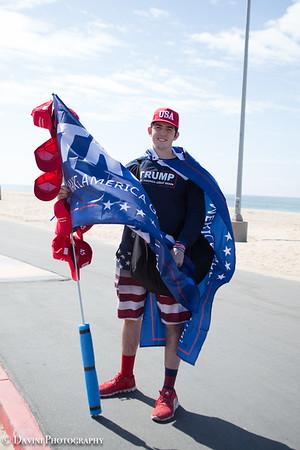 Huntington Beach Trump Support Rally