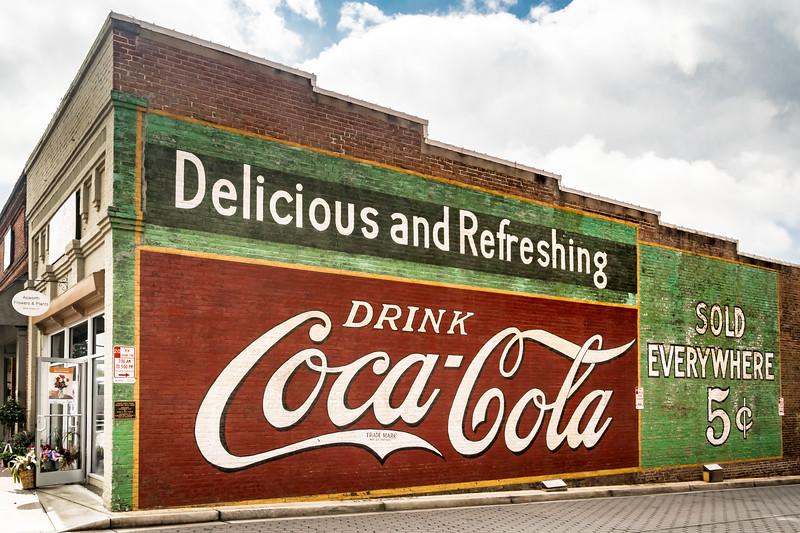 GA, Acworth - Coca-Cola Wall Sign 06