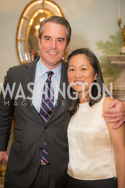 Ambassador Stuart Holliday, Hongxia Liu,50th Annual Meridian Ball Leadership Committee Reception at the Blair House, co-hosted with Ambassador Sean P. Lawler.  September 13, 2018, Photo by Ben Droz.