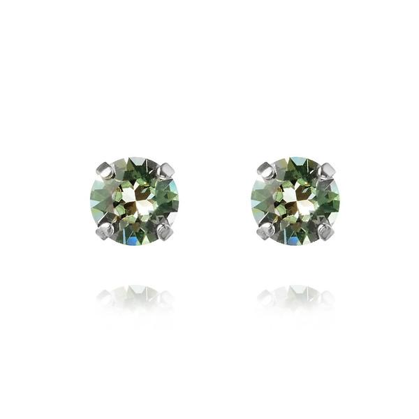 Classic Stud Earrings - Chrysolite-rhodium.jpg
