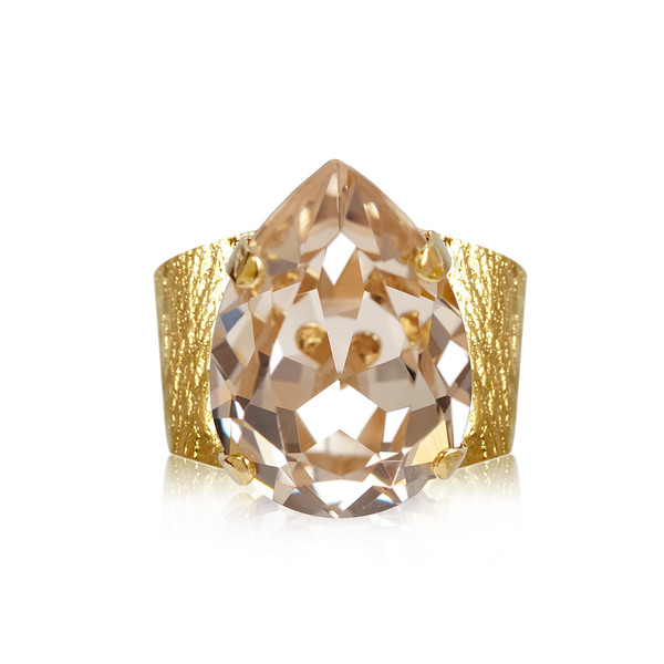 Classic Drop Ring / Silk / Guld