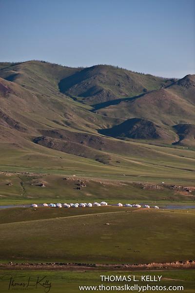 Christopher Gierke's camp in Monkhe Tingri. Mongolia.