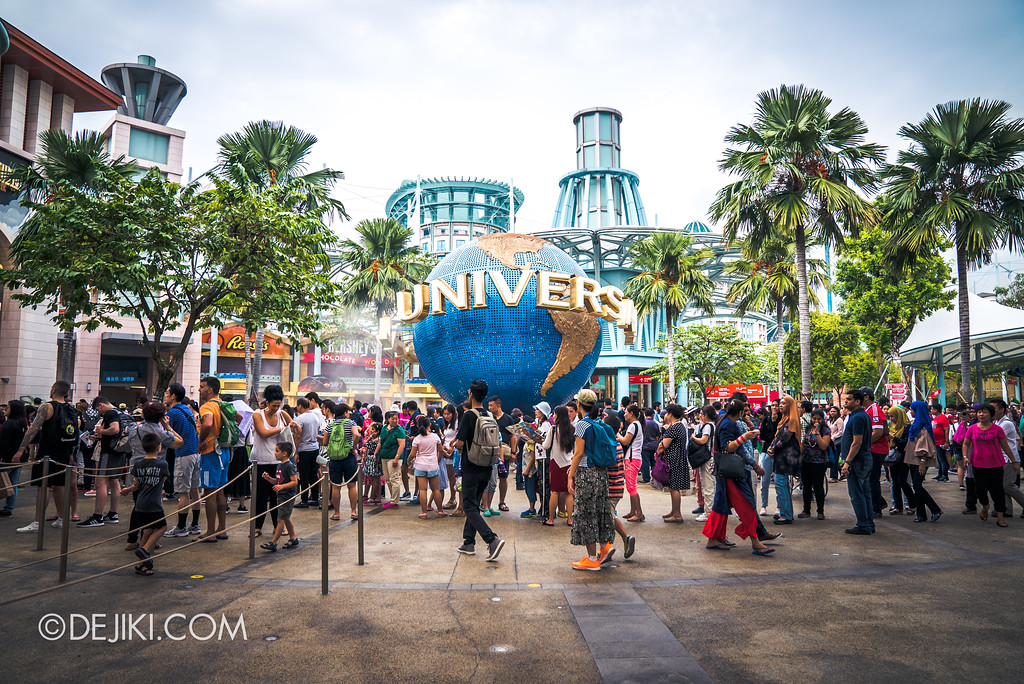 Universal Studios Singapore Park Update August 2017 - Ticket queues around the globe