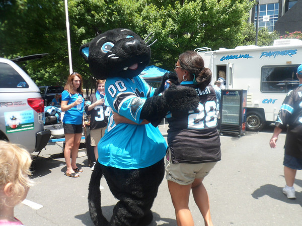 Panthers Pepsi Commercial shoot July 22 2012