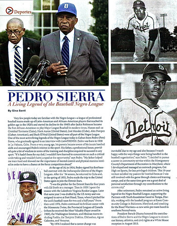 Pedro Sierra - A Legend of the Baseball Negro League