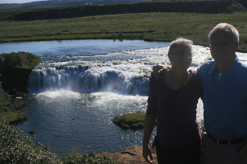 Mitzi & Sheldon at Faxi waterfall.