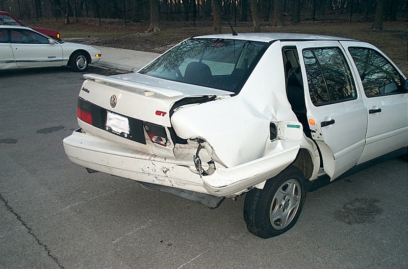Rear-ended Volkswagen Jetta