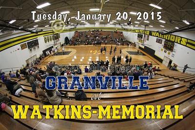 2015 Granville at Watkins-Memorial (01-20-15) Varsity
