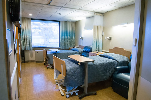 02/19/20 Wesley Bunnell | StaffrrA typical large double bedroom at Monsignor Bojnowski Manor which features both long term and short term skilled nursing care.