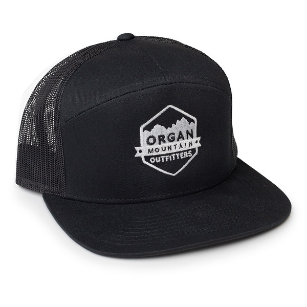 Organ Mountain Outfitters - Outdoor Apparel - Hat - 7 Panel Trucker Cap - Black White.jpg