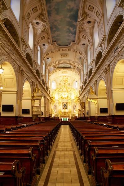 Notre-Dame de Québec Cathedral, interior. Quebec City, Canada.
