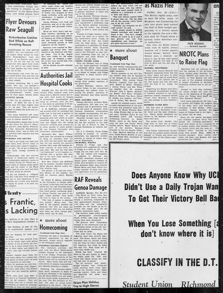 Daily Trojan, Vol. 34, No. 46, November 23, 1942