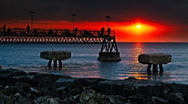 Edgewater Pier Sunset