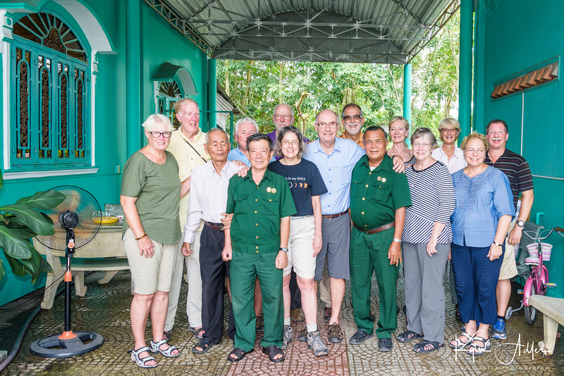 Group portrait with the three former Viet Cong officers.