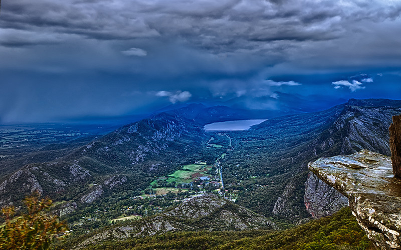 Stormy weather over Hall's Gap