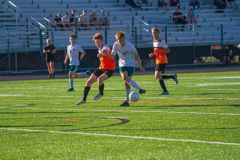 Holy Family Varsity Soccer vs. Delano, 9/19/19: Ben Creager '20 (10)
