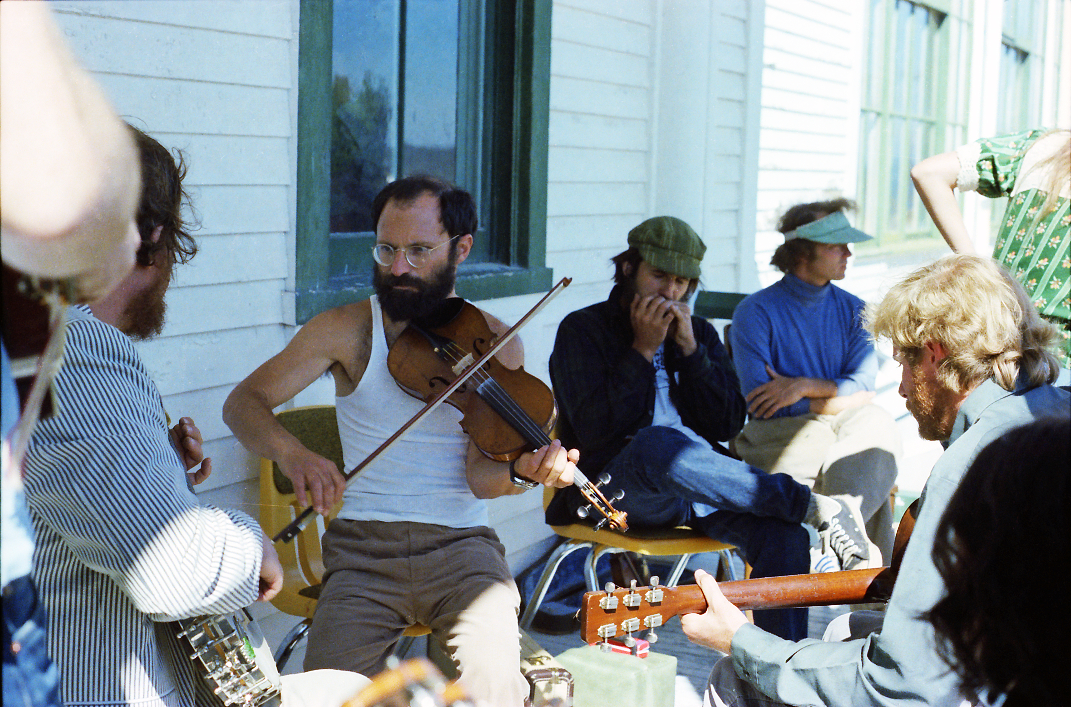 Tommy Thompson, Bertram Levy and Mark Graham, Dave Daley, porch session