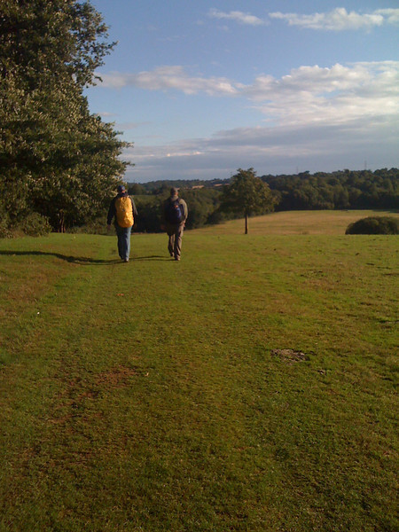 Alex and AC lead the way down the 1066 Country walk